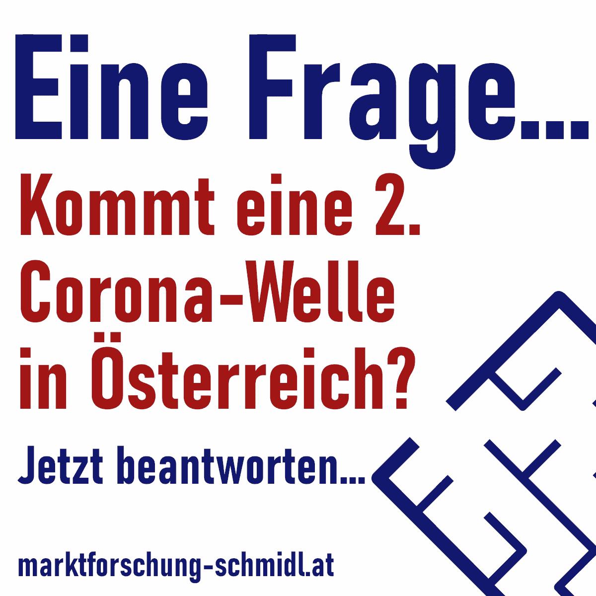 Umfrage und Live-Ergebnisse: Wird es in Österreich zu einer 2. Corona-Welle kommen?